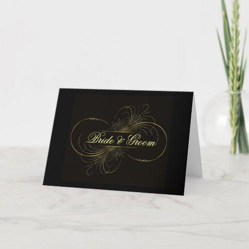 Elegant black swirls ... card