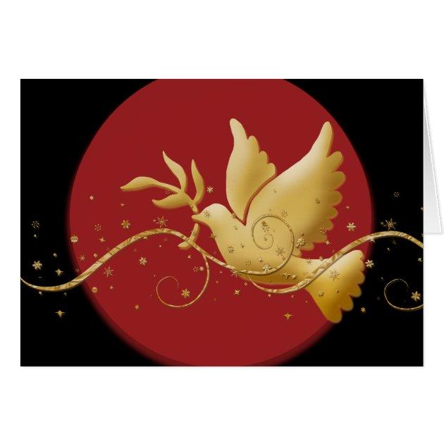 Elegant Christmas Holiday Dove Peace Card Zazzle