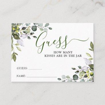 Elegant Eucalyptus Guess How Many Game Card