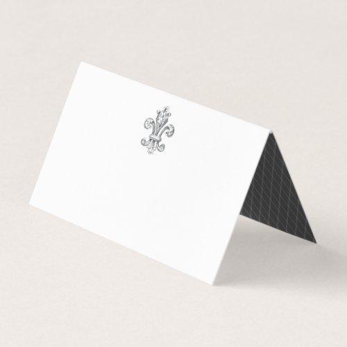 Elegant Fleur de Wedding 2 Place Card