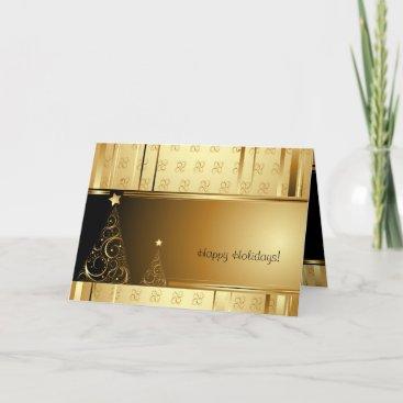 Elegant Gold Christmas Greeting Cards