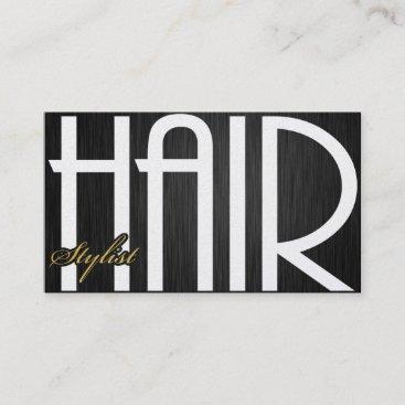 Elegant Hair Damask Stylist Business Cards
