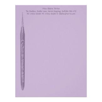 Elegant Lilac Pen Nib Stationery Letterhead Design