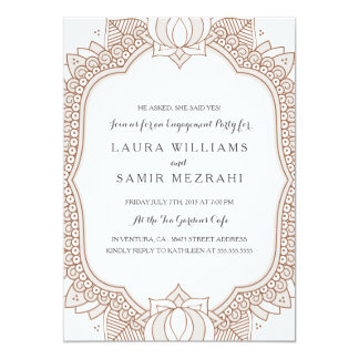 Invitation With Image Happy Enement Ring And Flowers Theme