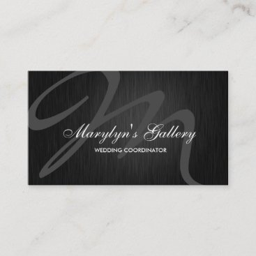 Elegant Monogram Wedding Coordinator Business Card