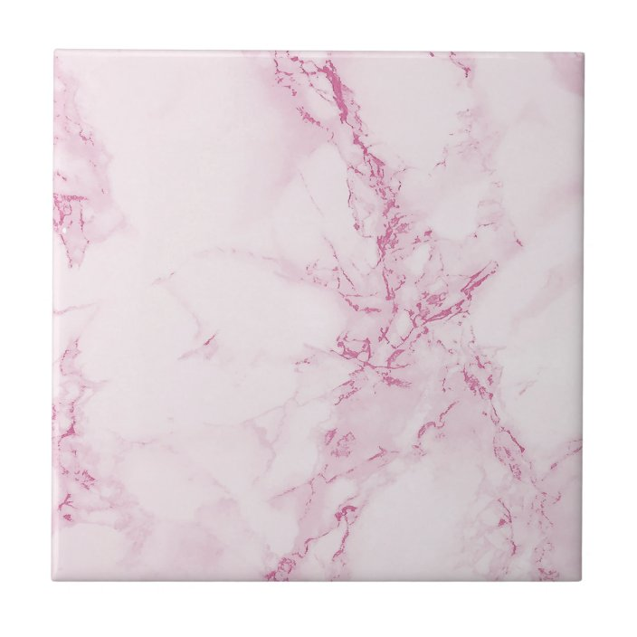 elegant pastel pink marble ceramic tile zazzle com
