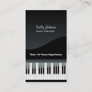 Elegant  Piano Instructor Business Card