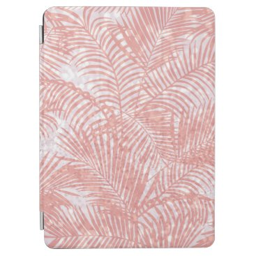 Elegant pink faux glitter coral tropical floral iPad air cover