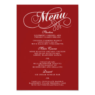 Red White Heart Wedding Photo Invitations