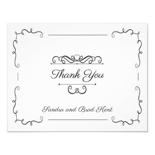 Elegant swirl Thank You Card