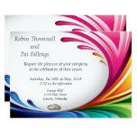 Elegant Swirling Rainbow Splash Invite - 5B
