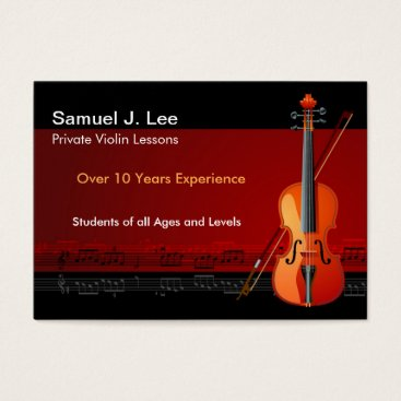 Elegant Violin Lessons Business Card