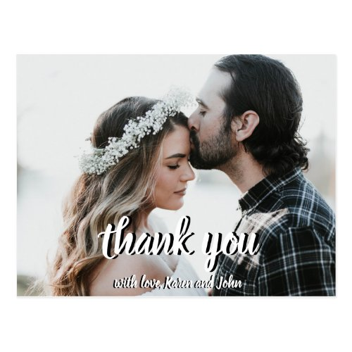 Elegant Wedding Thank You Post Card