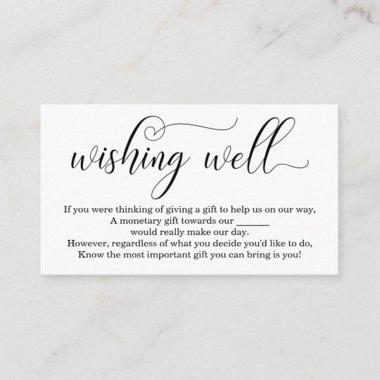 Elegant Wishing Well For Wedding Invitation