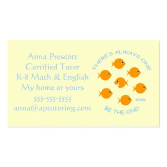 Elementary School Tutor Business Card