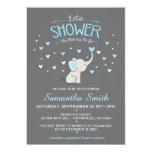 Elephant Baby Shower Invitation, Boy Baby Shower Invitation