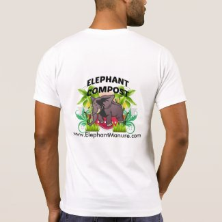 Elephant Compost for Gardens T-shirts
