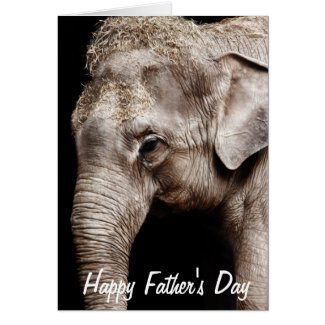 Elephant Photo Image Happy Father's Day Card