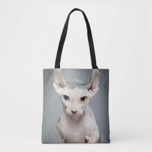 Elf Sphinx Cat Photograph Tote Bag