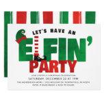 Elfin Party - Funny Christmas Party Invitation