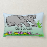 Ely the Elephant - Sees a Mouse Kid's Pillow