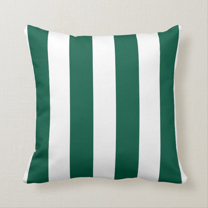emerald green and white striped throw pillow zazzle com