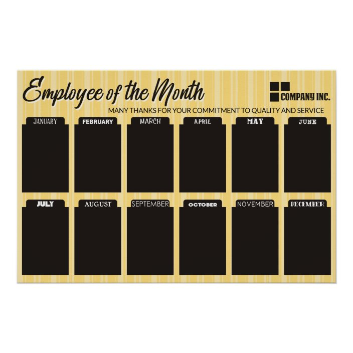 employee of the month display for 4x6 photos poster zazzle com