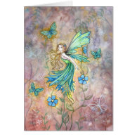 Enchanted Garden Fairy Card