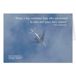Endeavour Space Shuttle   Famous Words Card