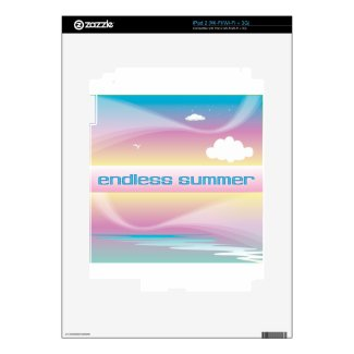 Endless Summer Pastels iPad 2 Decals
