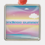 Endless Summer Pastels ornaments