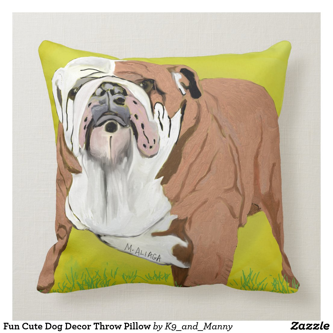 English Bull Dog Pillow