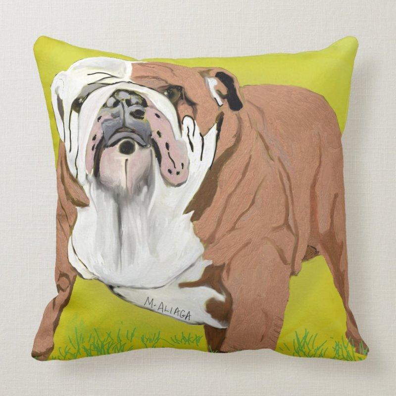 English Bull Dog Pillow