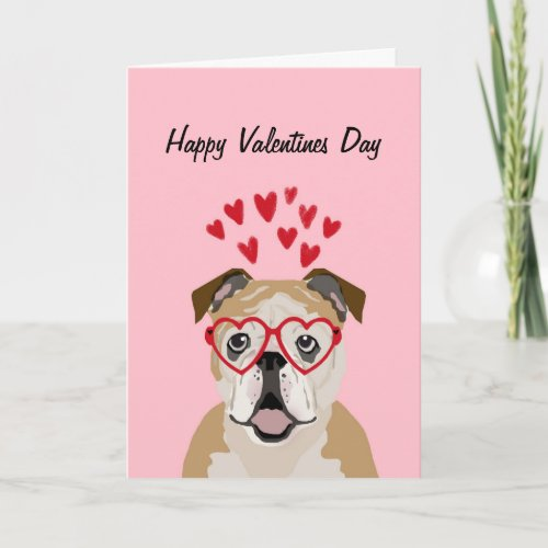 English Bulldog Valentines Love Card