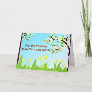 Enjoy the spring season - Card card