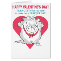 ENTHUSIASTIC CAT Valentines by Boynton Card