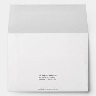 Envelope A7 White Return Address