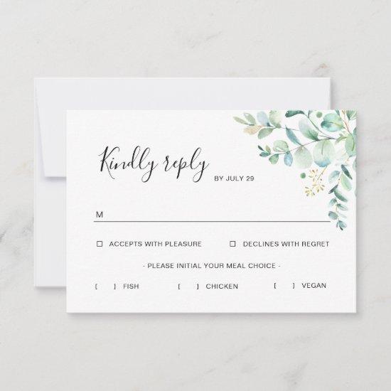 Eucalyptus Greenery Rsvp Card