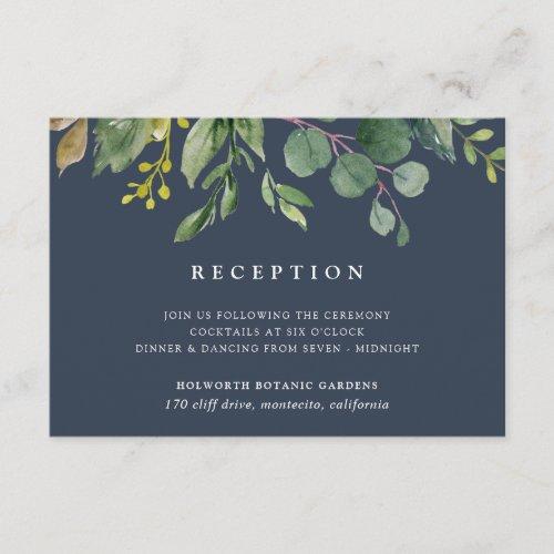 Eucalyptus Grove Reception Card