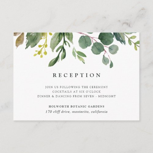 Eucalyptus Grove Reception Card