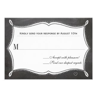 Ever After Chalkboard Response Card