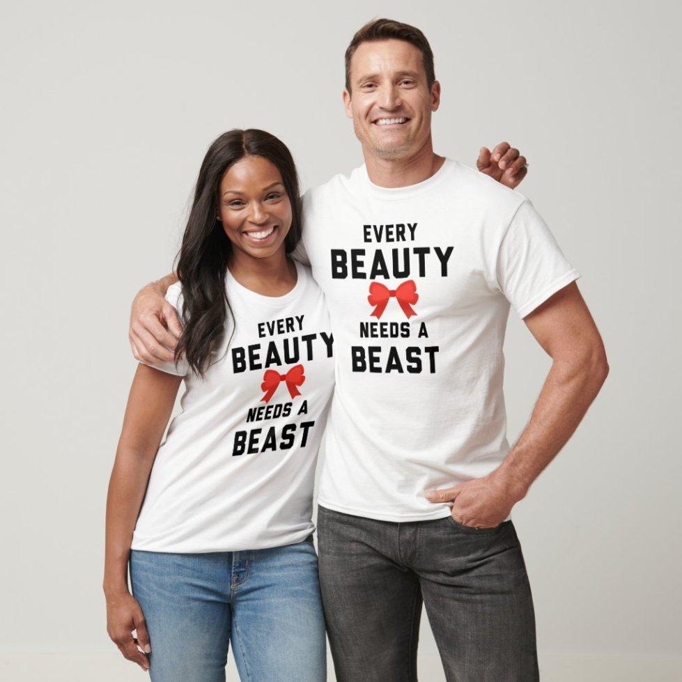 Every Beauty Need a Beast Couple Clothing
