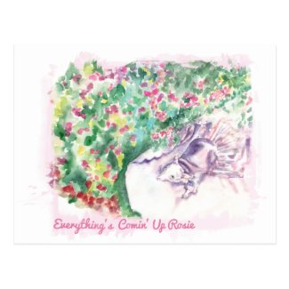 Everything's Comin' Up Rosie Postcard