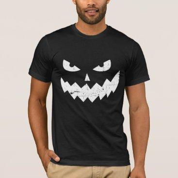 Evil Jack-o'-lantern faces - distressed T-Shirt
