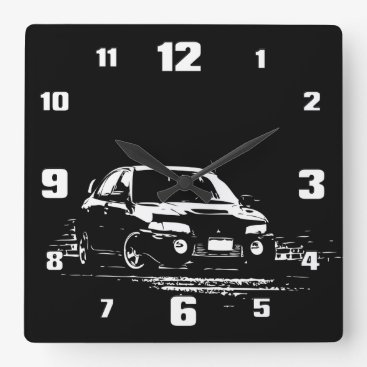 EVO 9 SQUARE WALL CLOCK