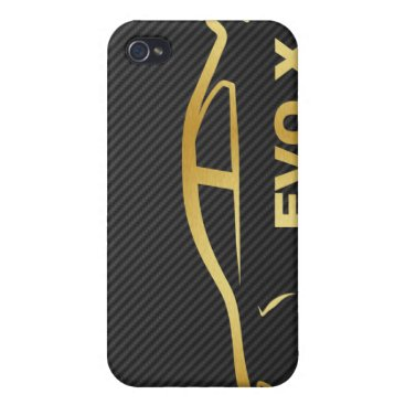 EVO X Gold Silhouette 4G iPhone 4 Cover