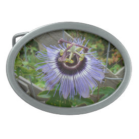 Exotic Blue Wildflower - Belt Buckle