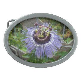 Exotic Blue Wildflower - Belt Buckle