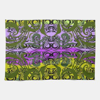 Exotic Damask Towel mojo_kitchentowel