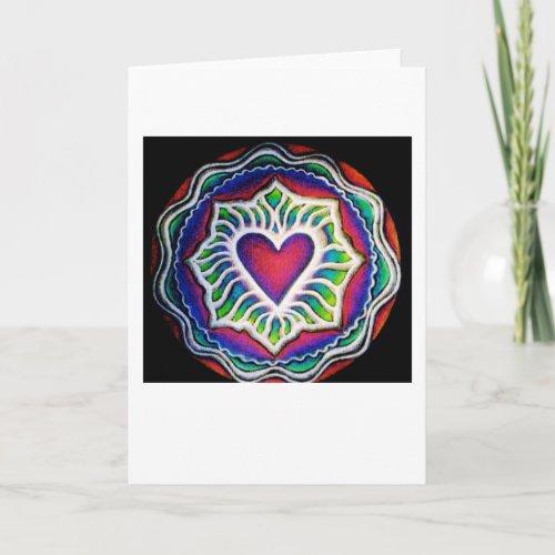 Expanding Heart Mandala Card
